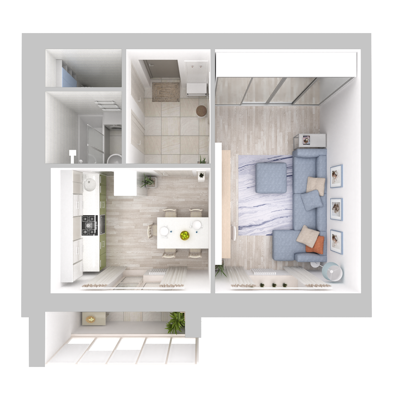 Дом 6 - 1-комнатная №156