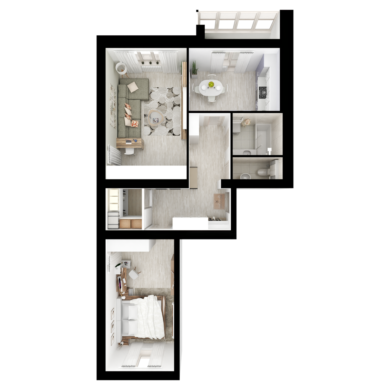 Дом 4 - 2-комнатная №7