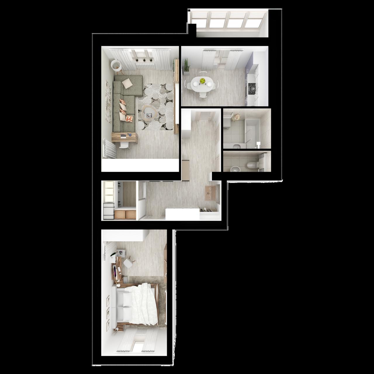 Дом 4 - 2-комнатная №19