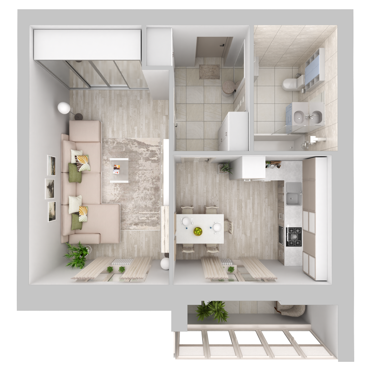 Дом 6 - 1-комнатная №111