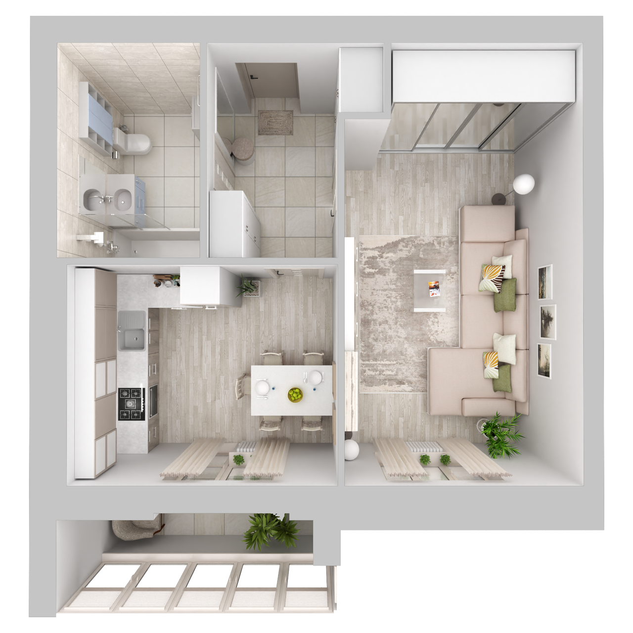 Дом 6 - 1-комнатная №80