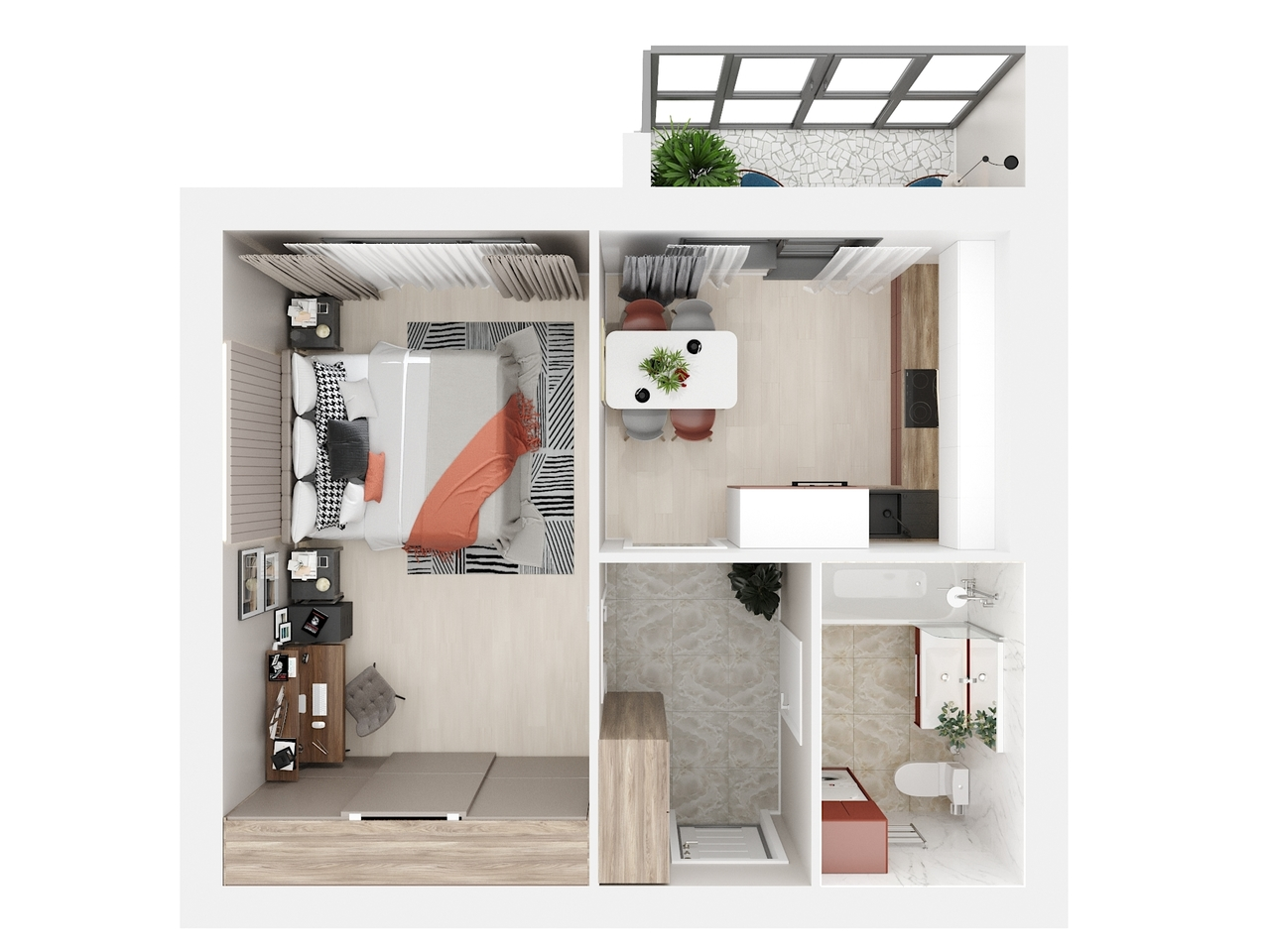 Дом 3 - 1-комнатная №27