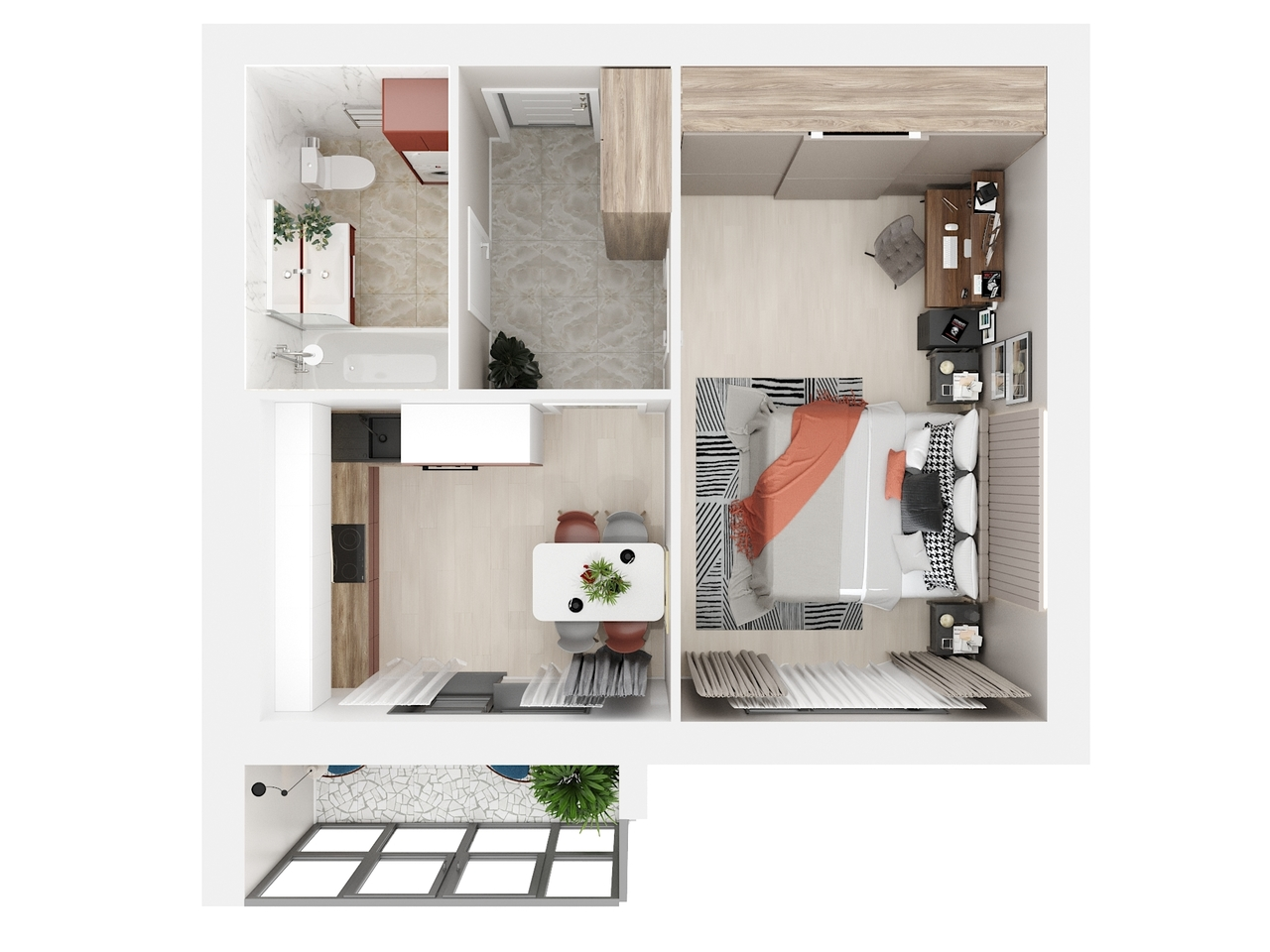 Дом 3 - 1-комнатная №59