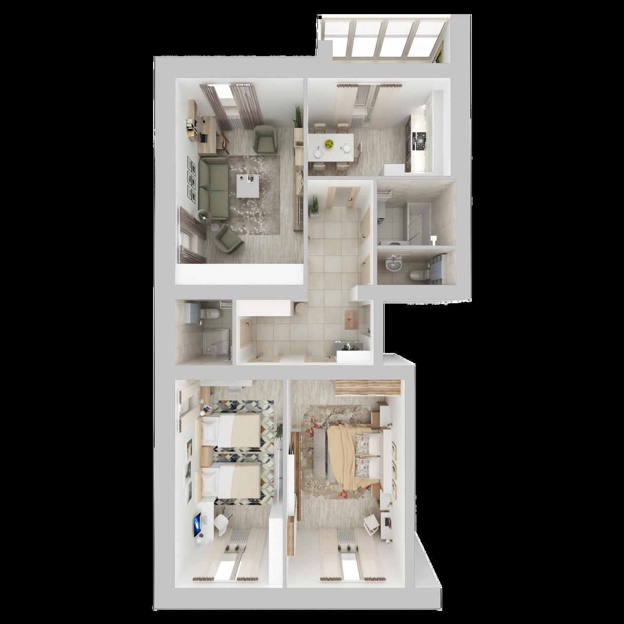 Дом 4 - 3-комнатная №1