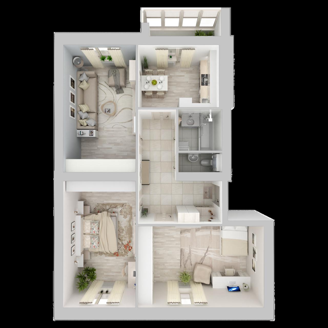 Дом 4 - 3-комнатная №24