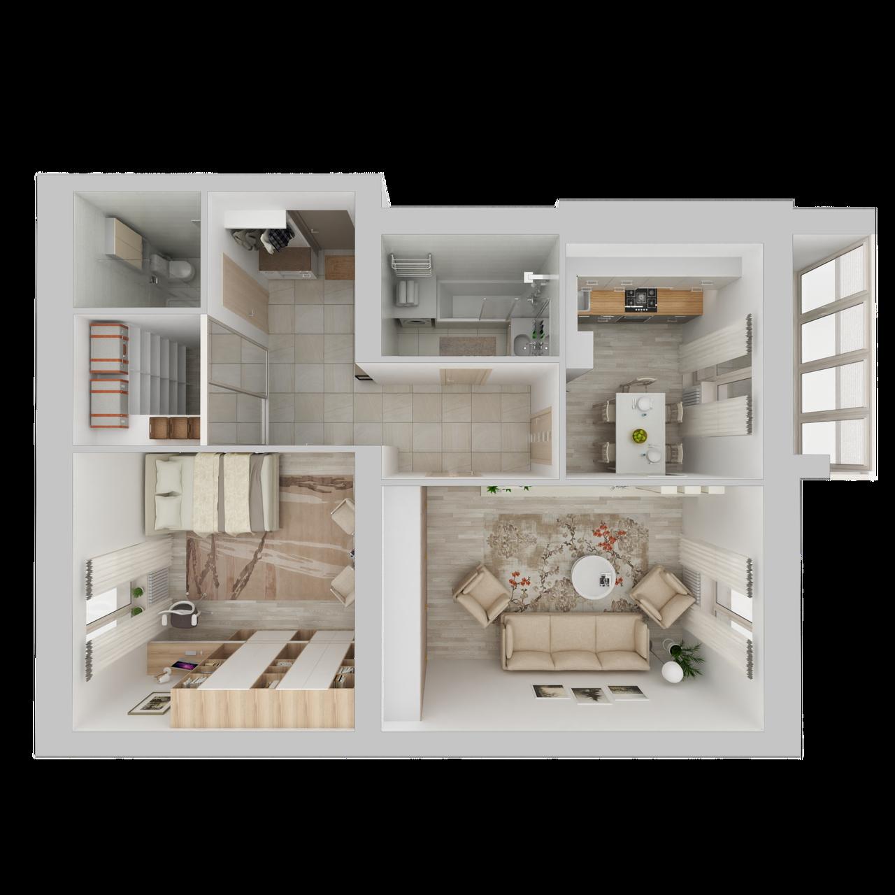 Дом 4 - 2-комнатная №31