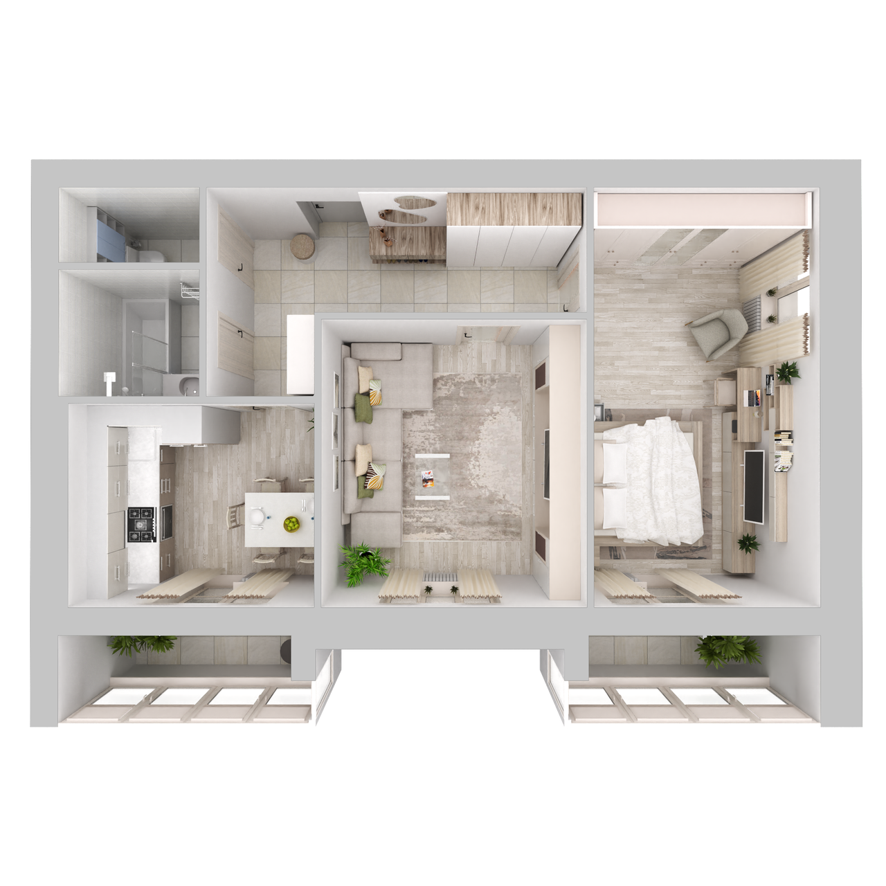 Дом 5 - 2-комнатная №53